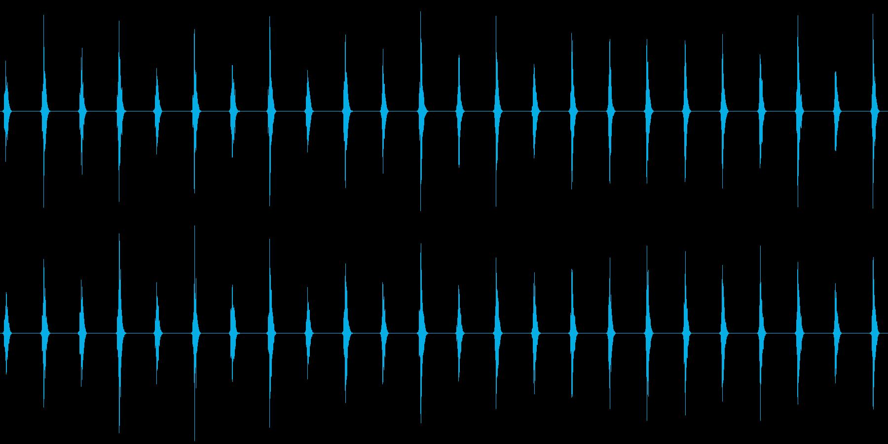 時計の秒針の音の再生済みの波形