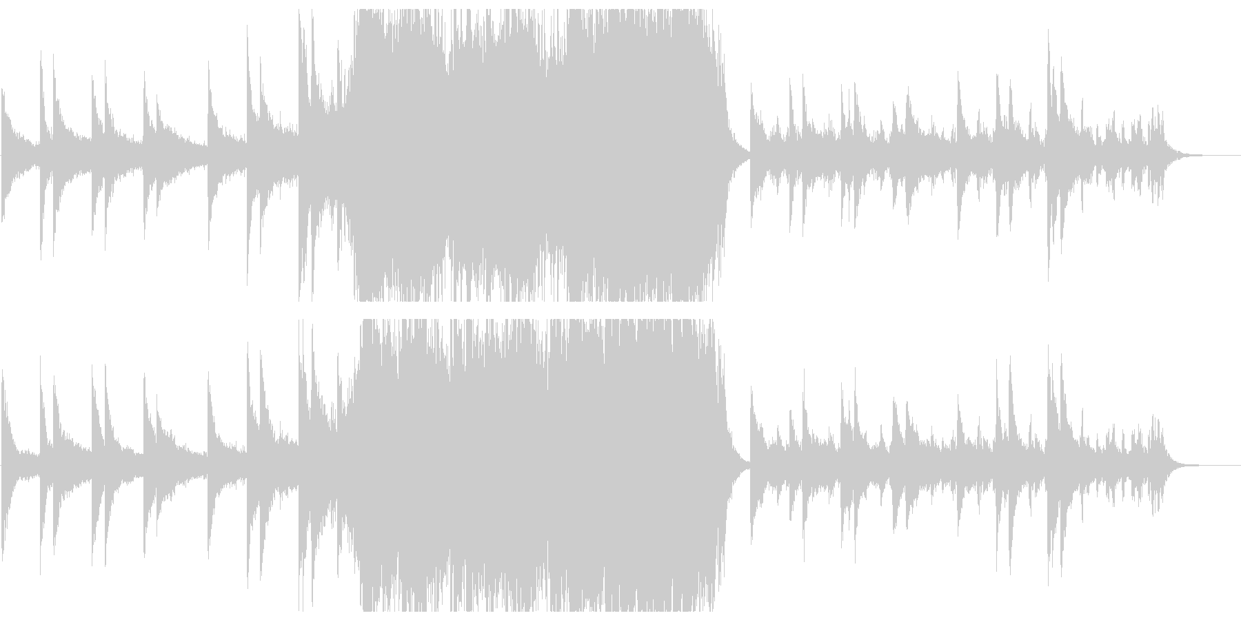 エンディング感のあるポップオーケストラの未再生の波形