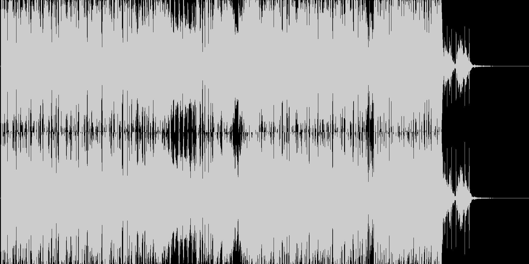 軽快なポップスの未再生の波形