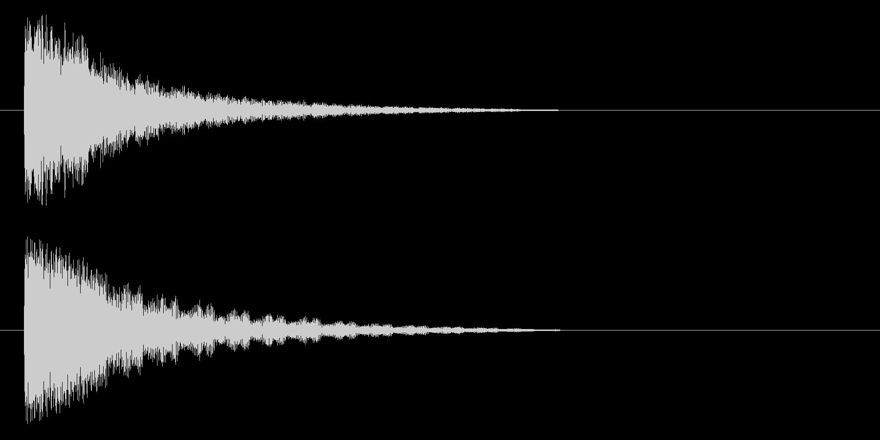 ポヨヨヨヨ~ンの未再生の波形