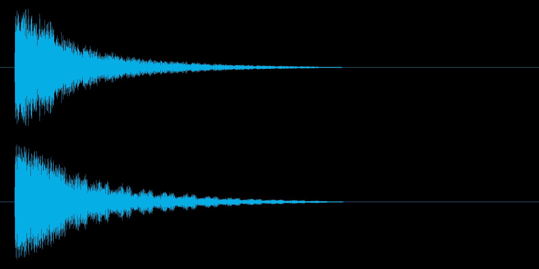ポヨヨヨヨ~ンの再生済みの波形