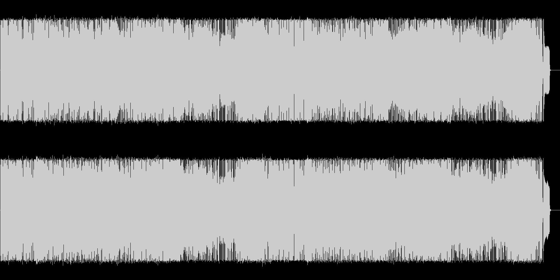 エネルギッシュな三味線とギターのメロディの未再生の波形