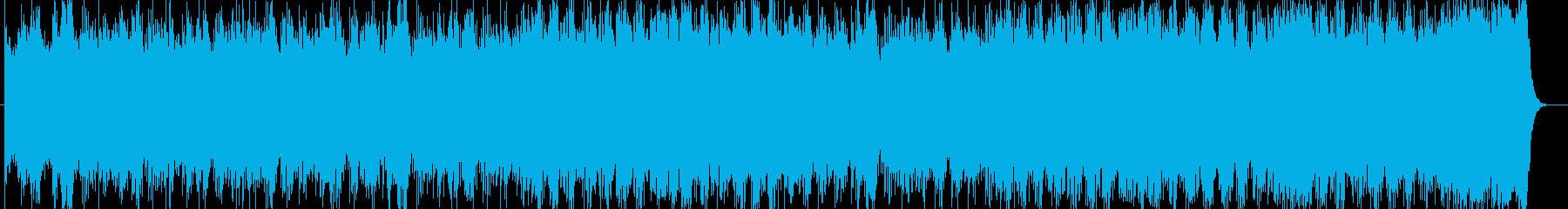 壮大で勢いあるギターシンセサウンドの再生済みの波形