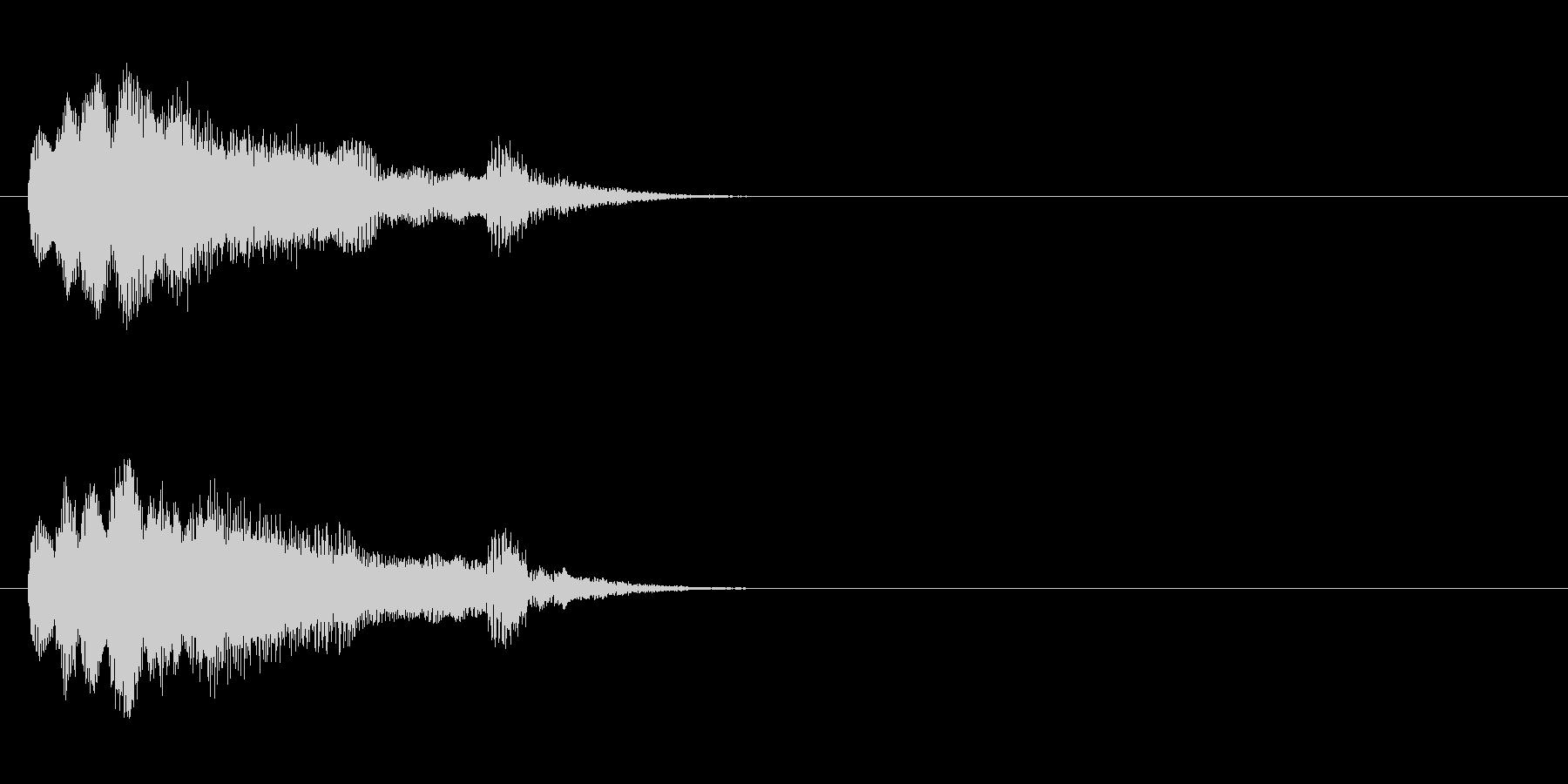 SE系/場面転換ジングルの未再生の波形