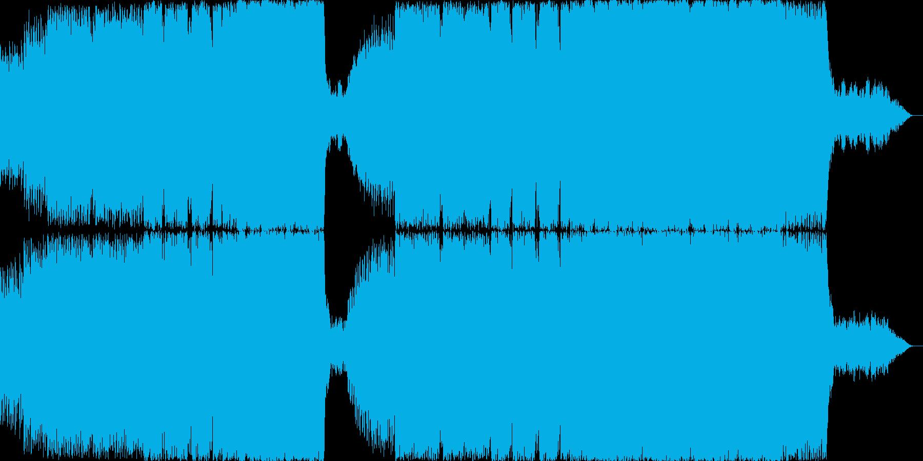 疾走感あるオーケストラ楽曲の再生済みの波形