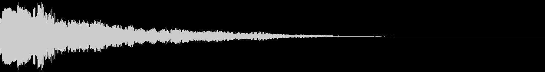 サウンドロゴ02(ベル系)の未再生の波形