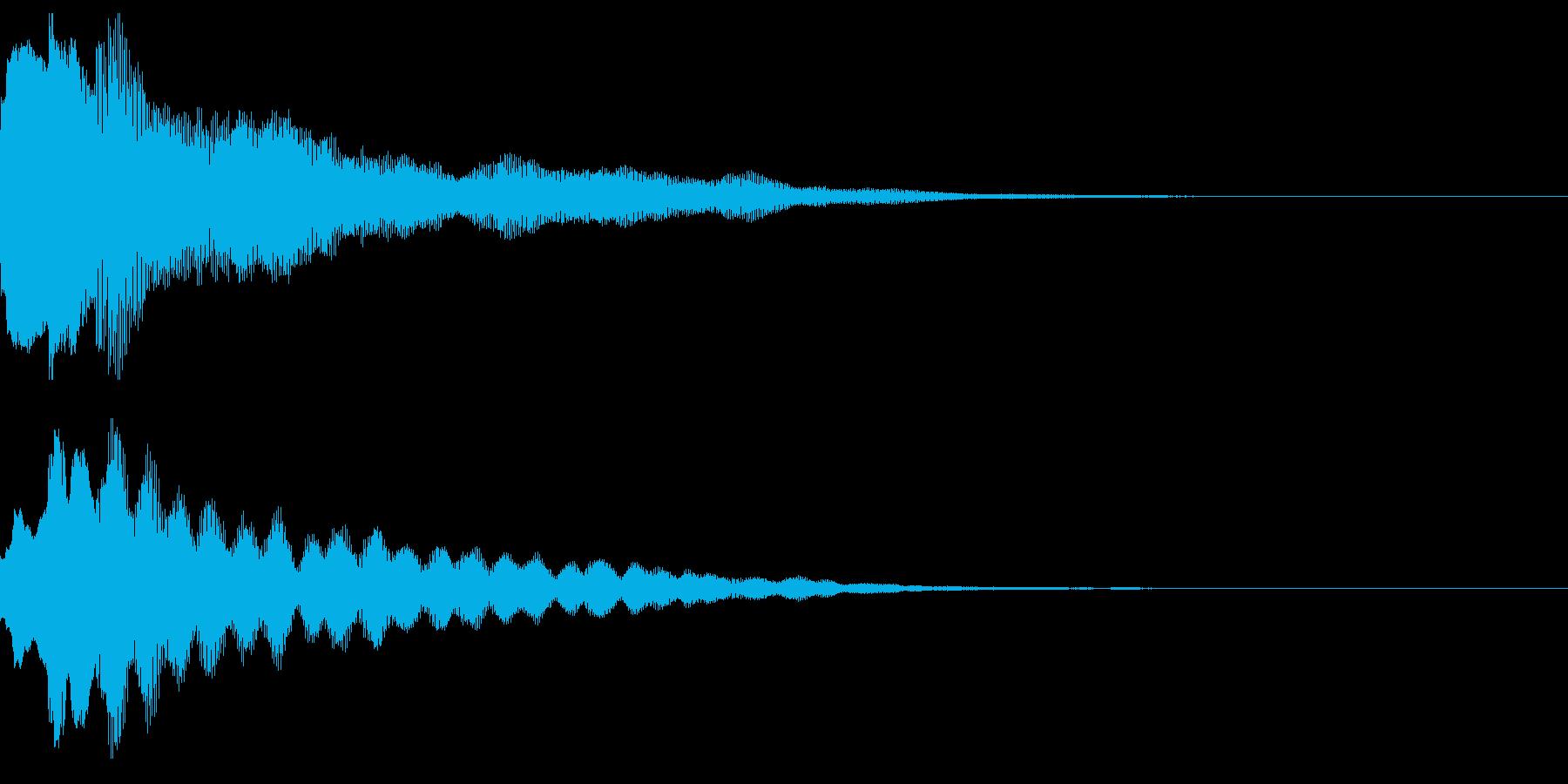 サウンドロゴ02(ベル系)の再生済みの波形