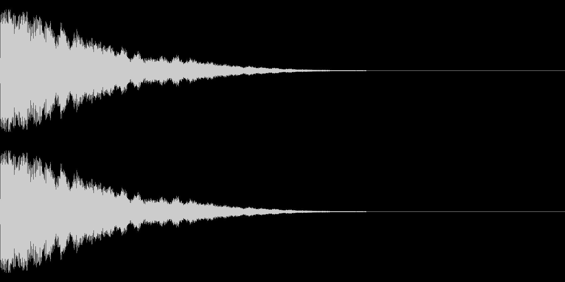 ゴーン(鐘系)の未再生の波形