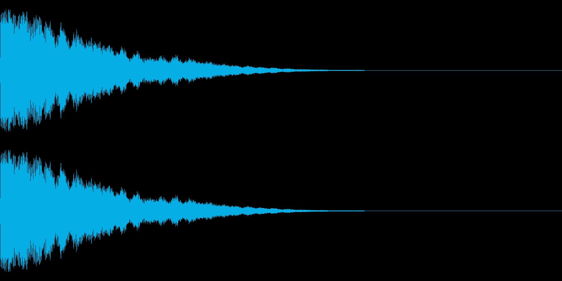 ゴーン(鐘系)の再生済みの波形
