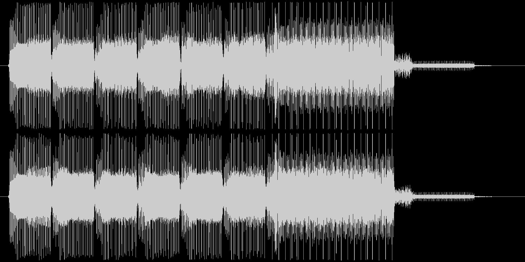 コミカルなレトロなゲームオーバーBGMの未再生の波形