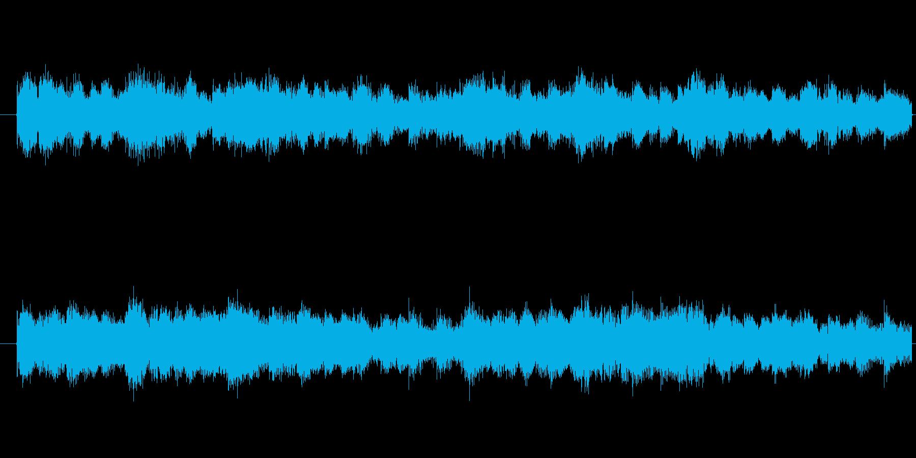 緊張感のあるBGMの再生済みの波形