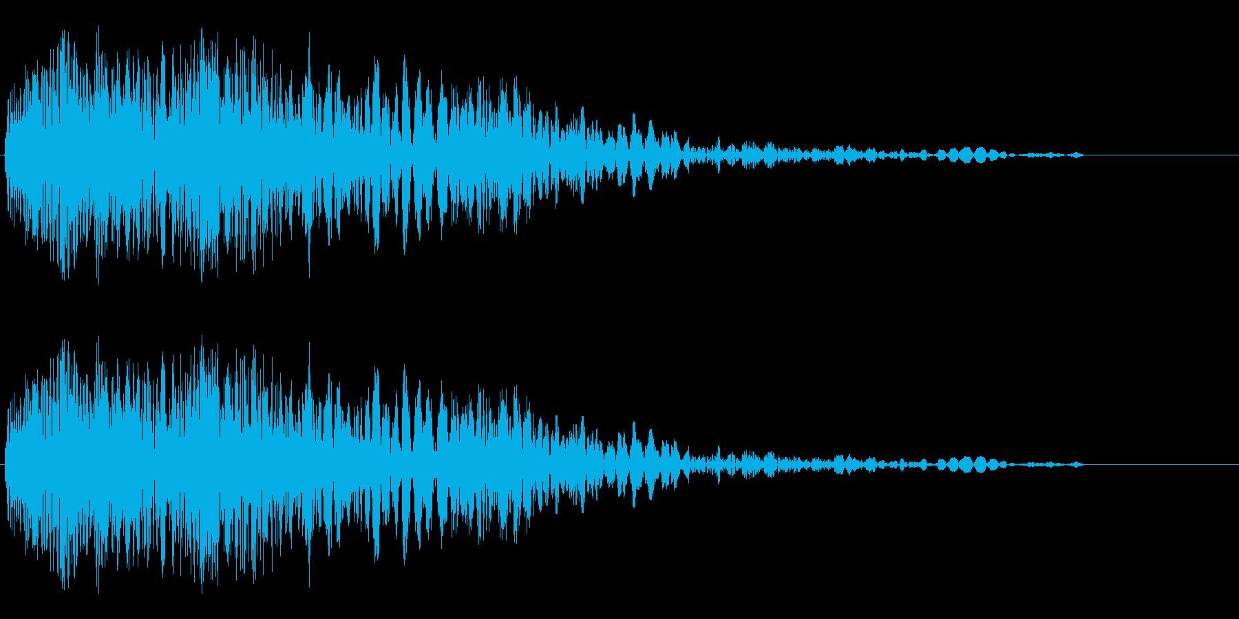 アニメにありそうなメカの挙動音や足音の再生済みの波形