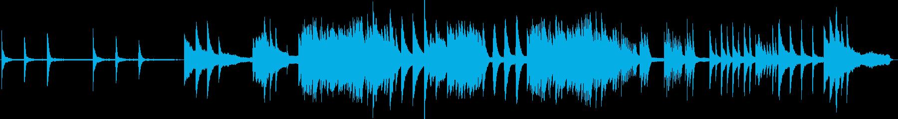 優しく切ない哀愁漂うピアノソロの再生済みの波形