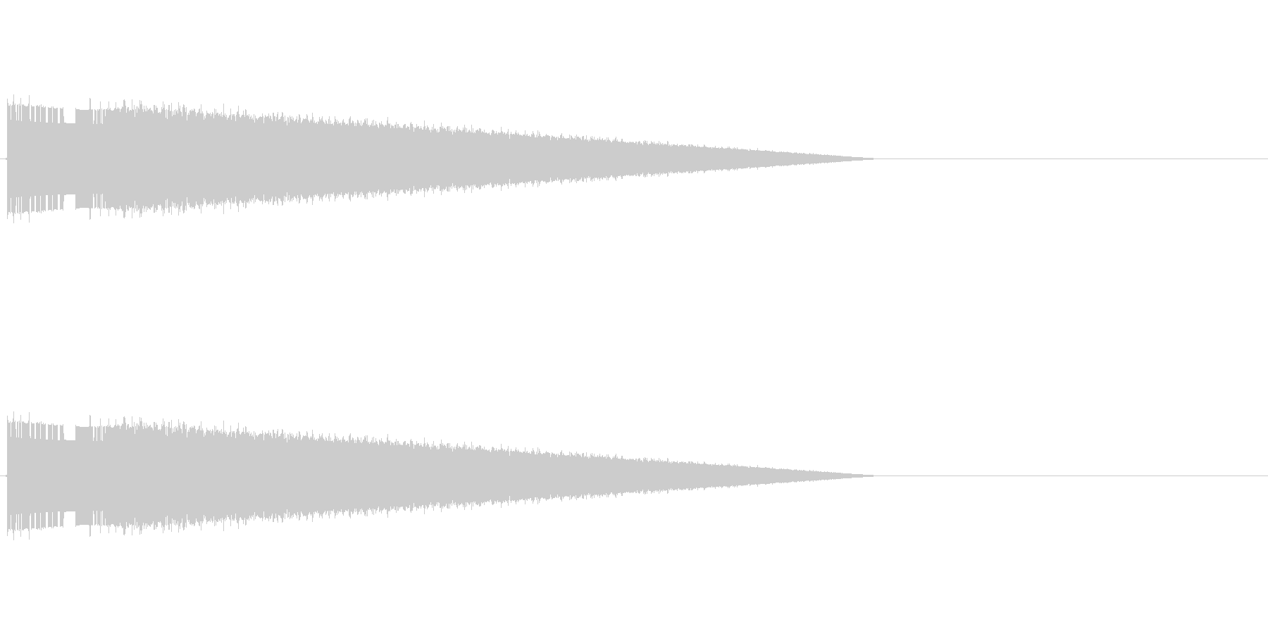 レトロゲーム風ヒット音3の未再生の波形