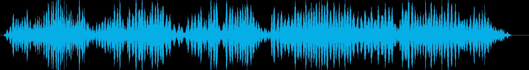 ガラス戸が激しく揺れる音の再生済みの波形