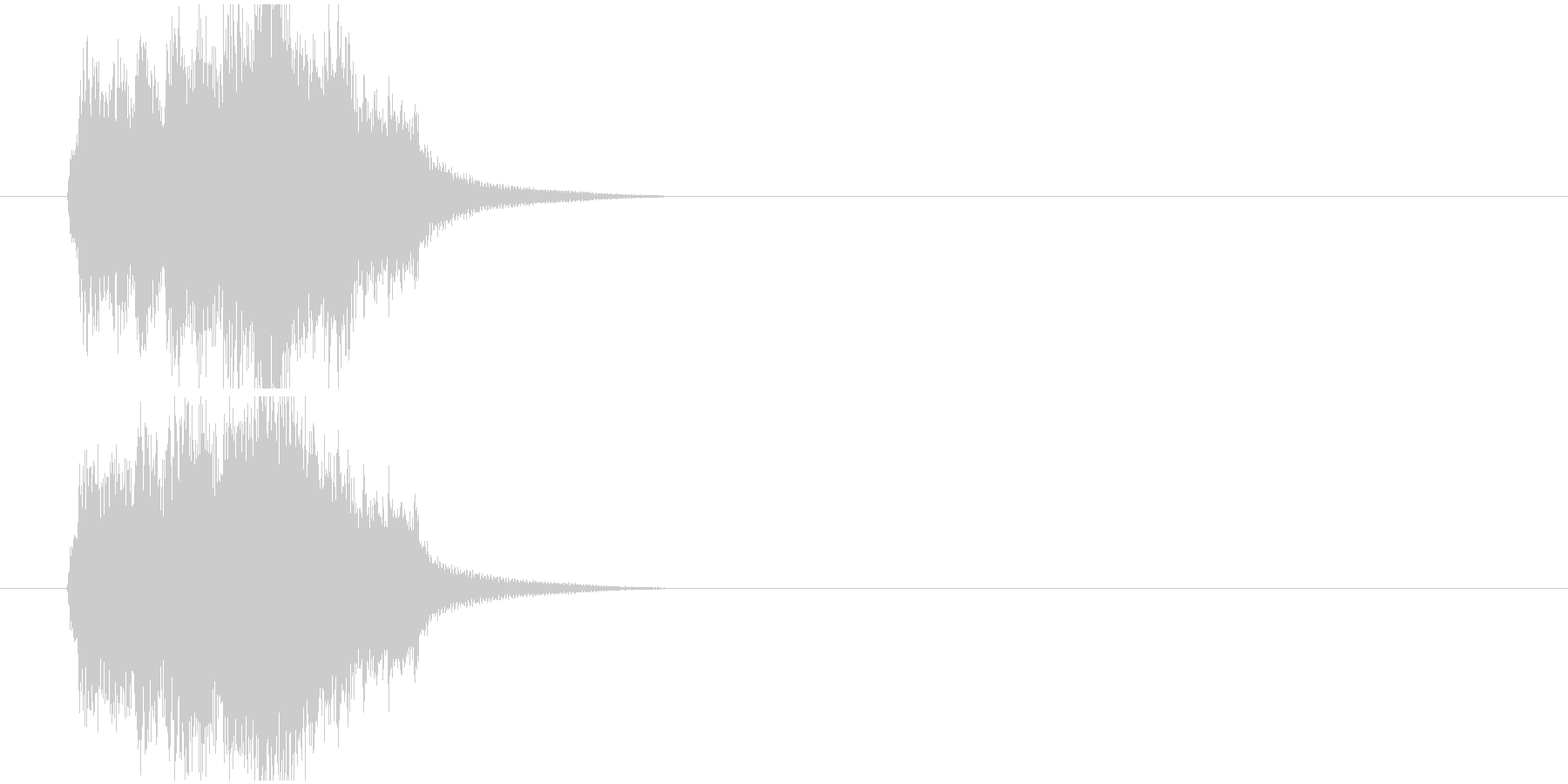当たり 正解の未再生の波形