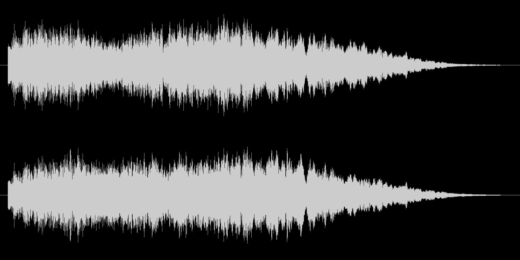 サウンドロゴ 可愛らしいチャイムの未再生の波形