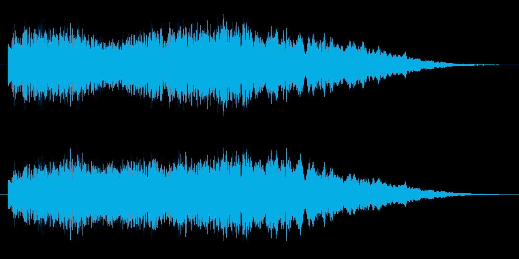 サウンドロゴ 可愛らしいチャイムの再生済みの波形