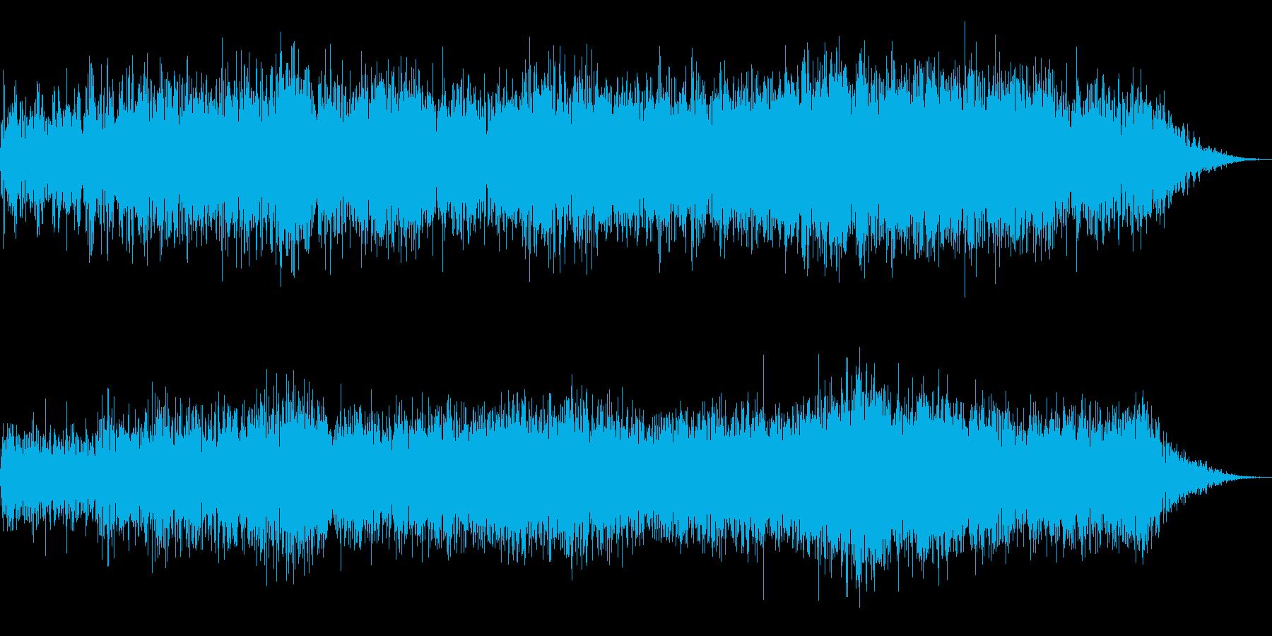 ホラー映画に出てきそうなノイズ系音源15の再生済みの波形