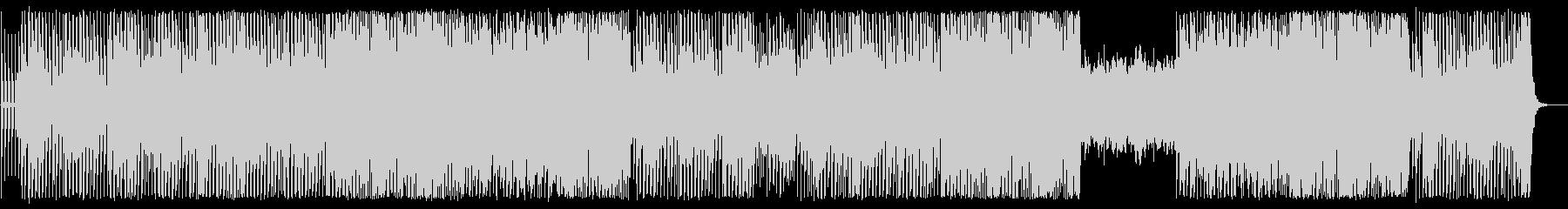 ビートのある懐かしいシンセサイザーの曲の未再生の波形