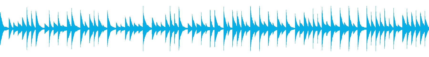 オルゴール風BGM(ループ)の再生済みの波形