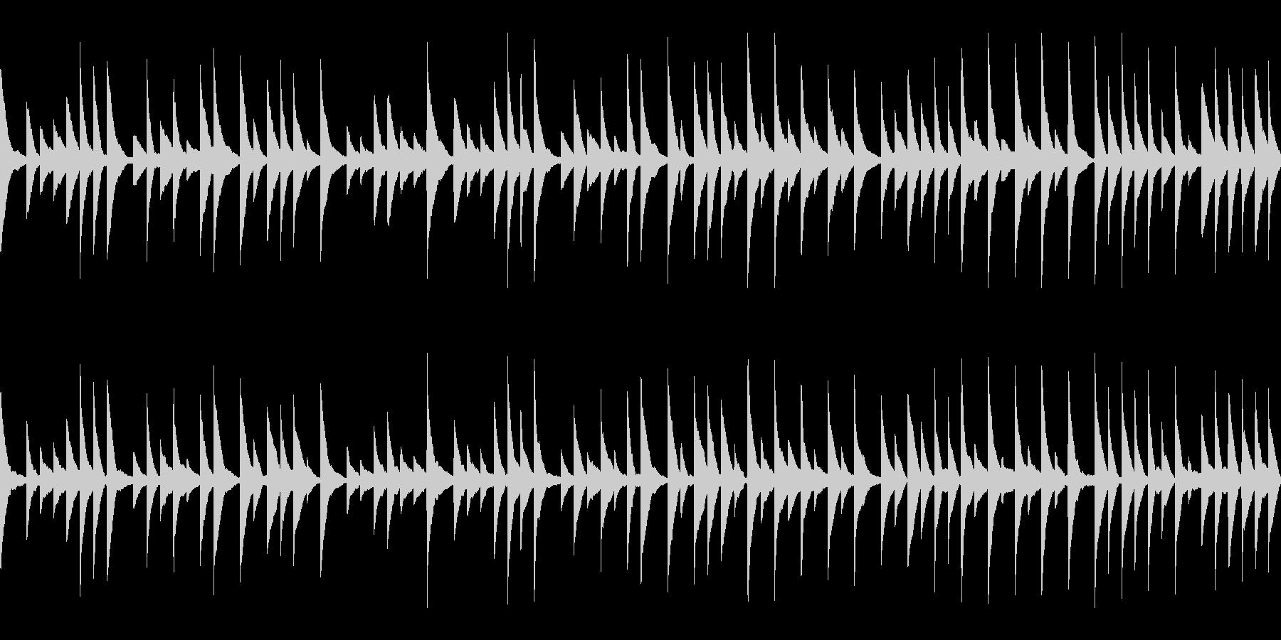 オルゴール風BGM(ループ)の未再生の波形