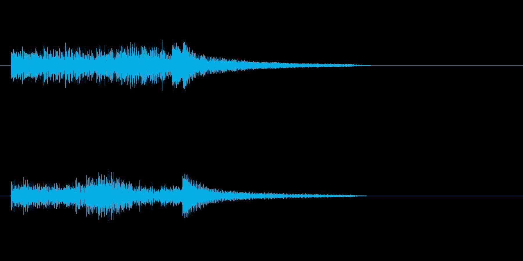ピアノのおしゃれなスケールのジングルの再生済みの波形