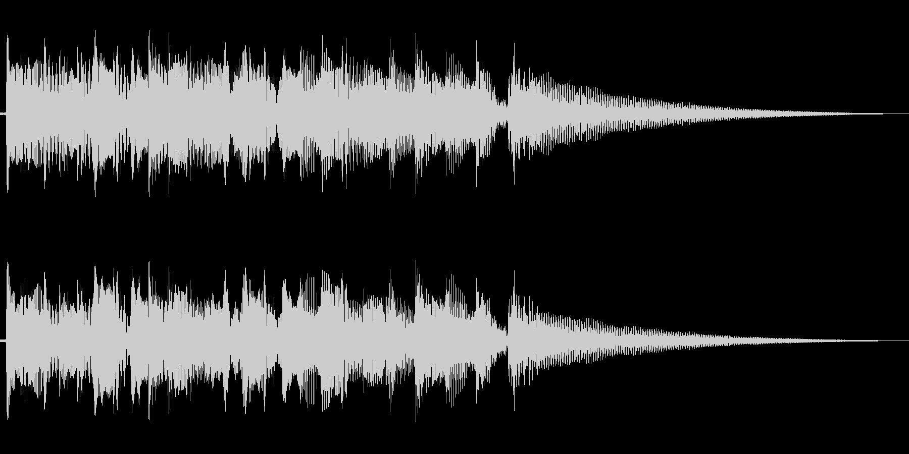 アコースッティックギターのアルペジオのみの未再生の波形