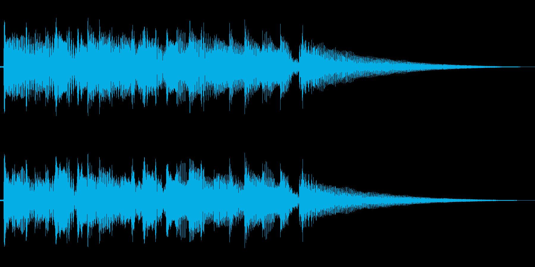 アコースッティックギターのアルペジオのみの再生済みの波形