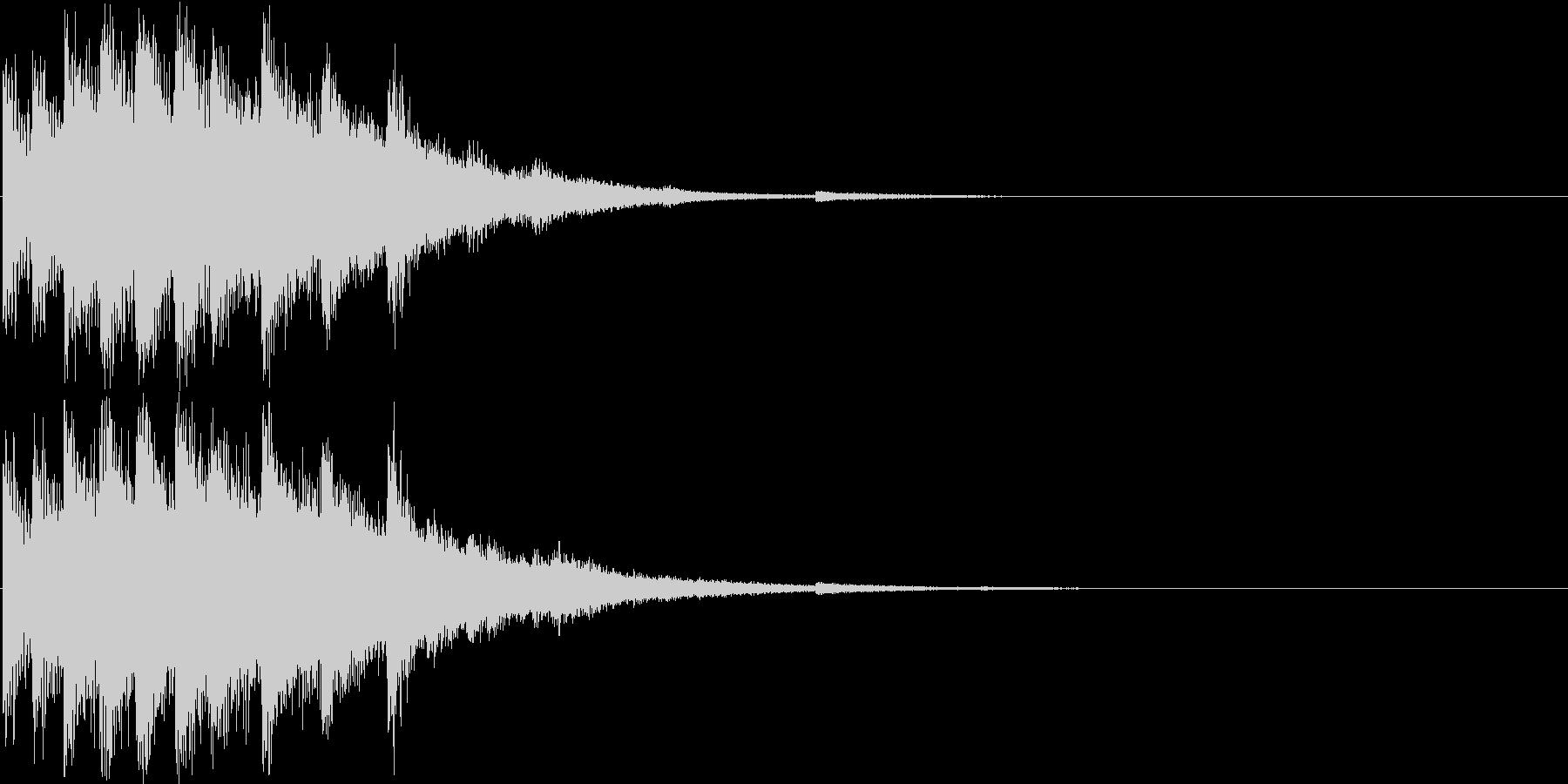 回復音2の未再生の波形