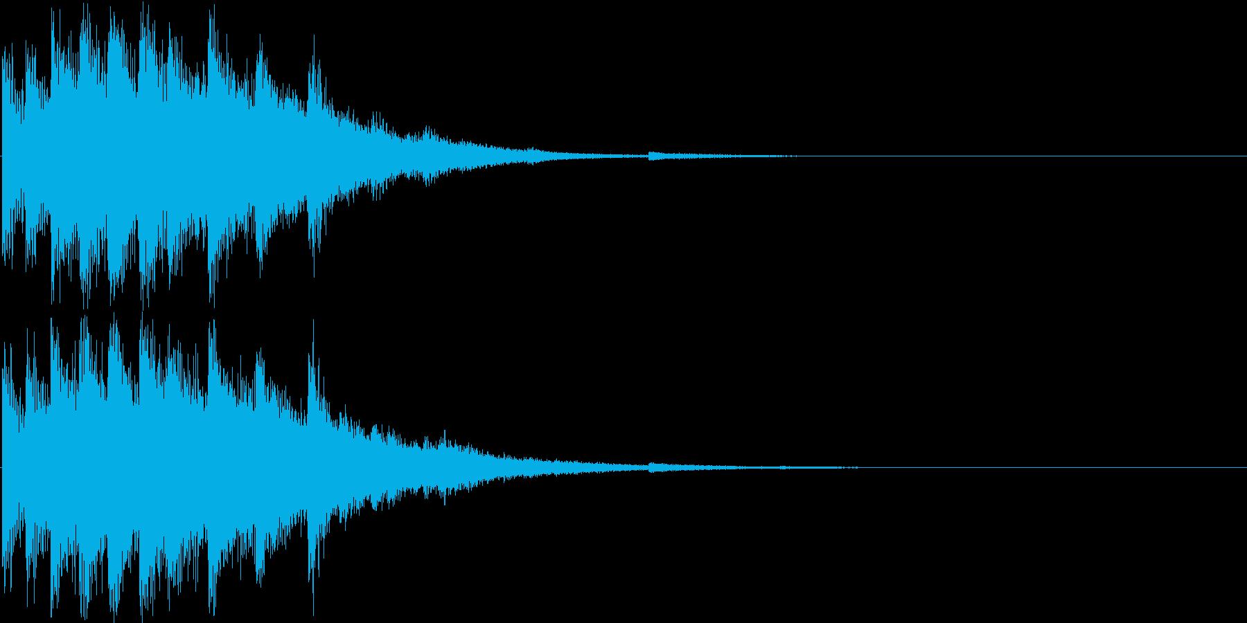 回復音2の再生済みの波形