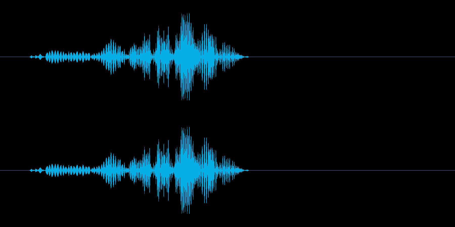 ヒュン!(短め風切り音)の再生済みの波形