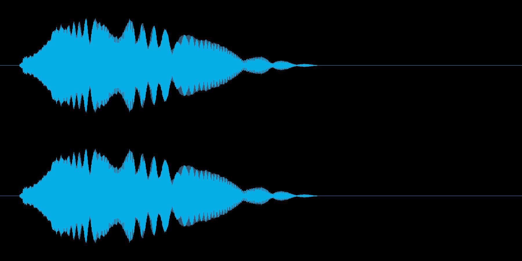 気の抜けたジャンプ音の再生済みの波形