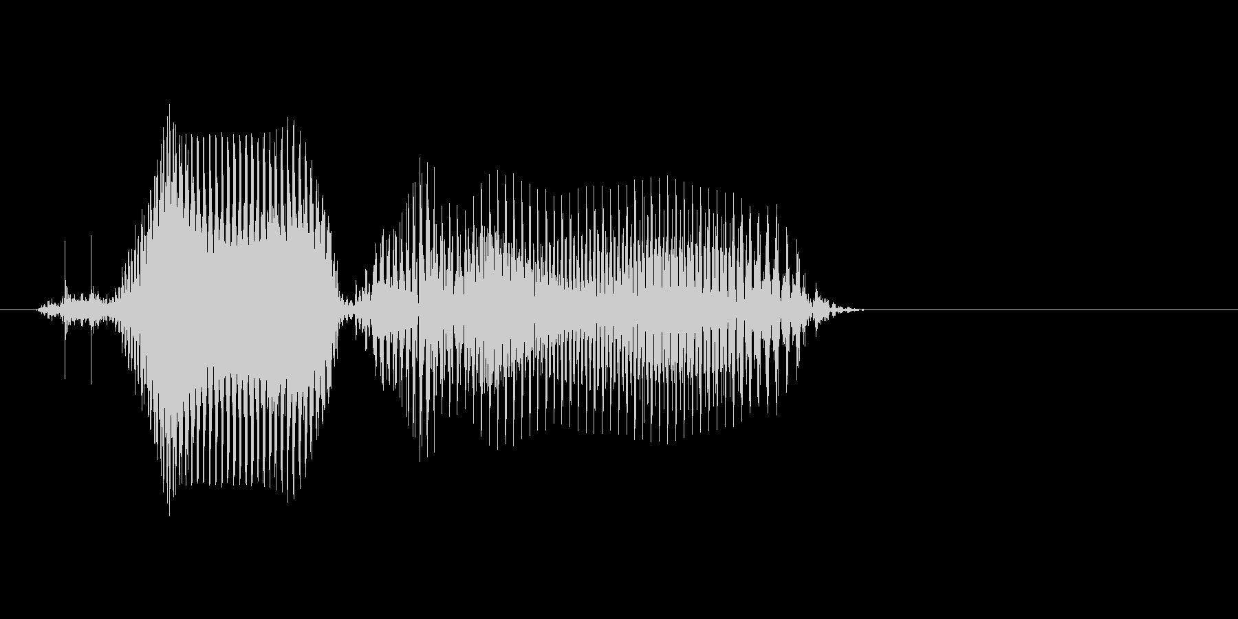 キロの未再生の波形