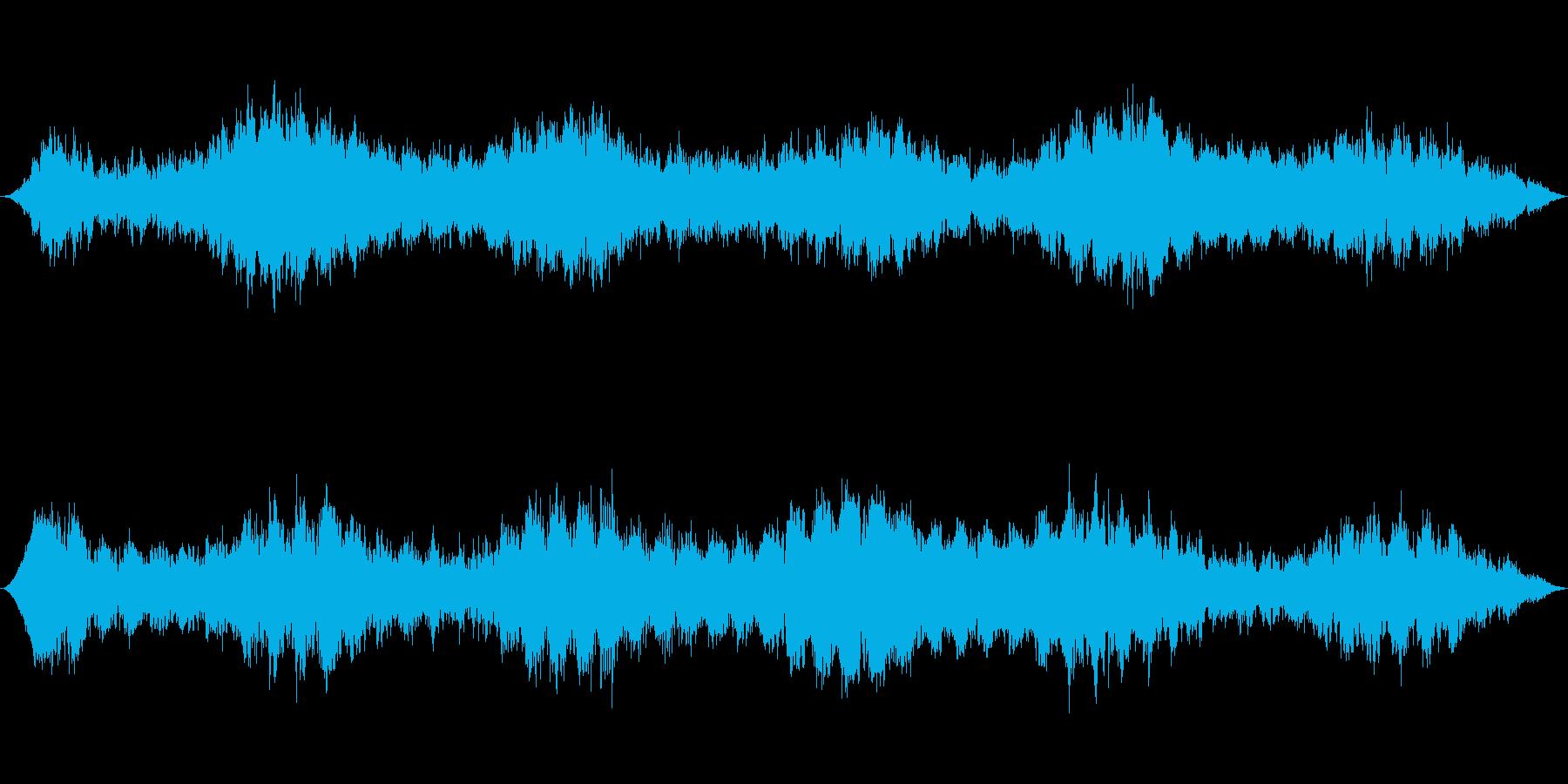 飛行機や飛行船のエンジン環境音の再生済みの波形