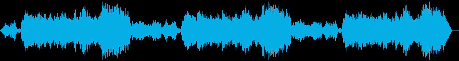 切なく終焉的な雰囲気のBGMの再生済みの波形