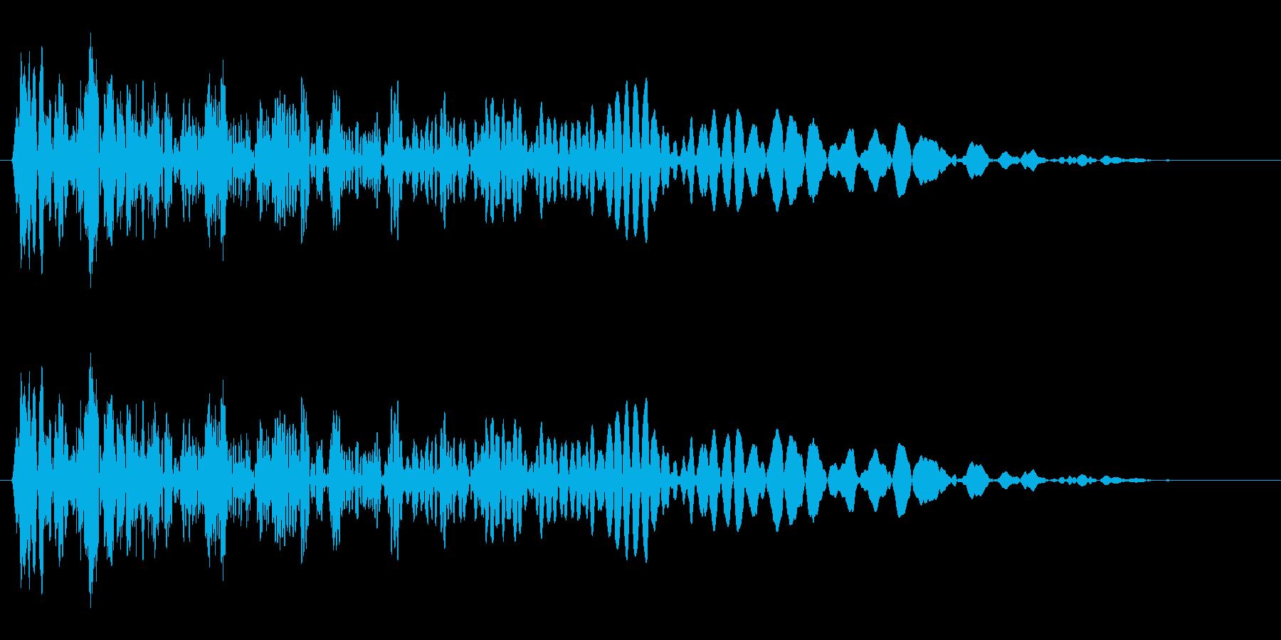 シューン(通過の音)の再生済みの波形