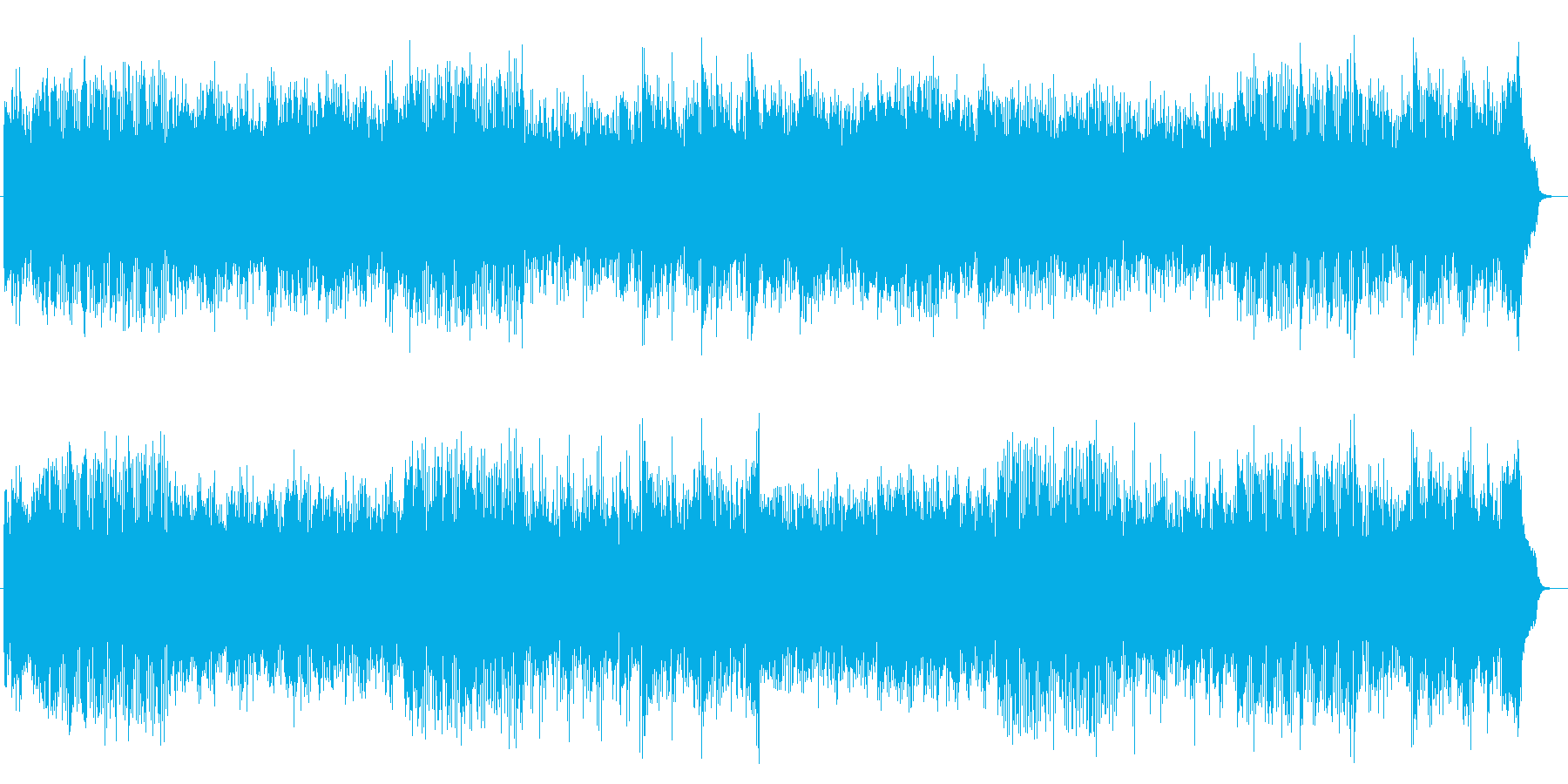 スキップしたくなるシンセのポップ曲の再生済みの波形