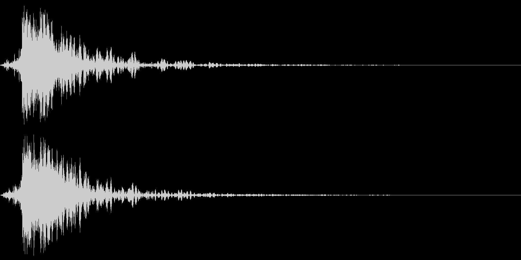 ガキーン 派手な金属音4-2の未再生の波形