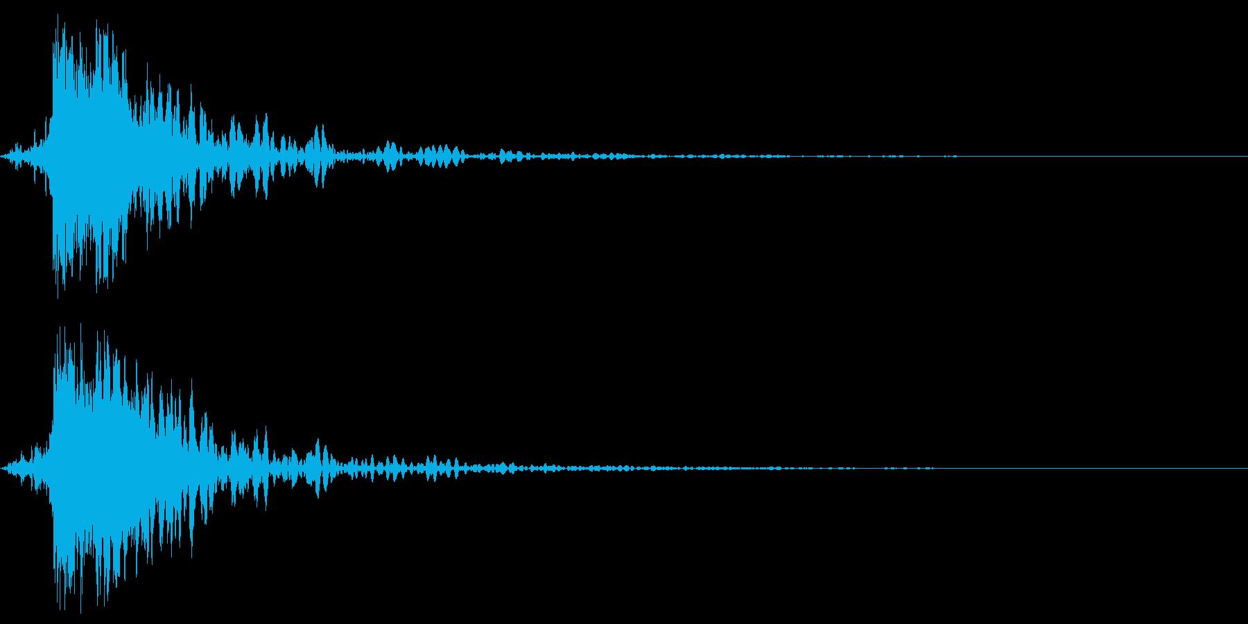 ガキーン 派手な金属音4-2の再生済みの波形