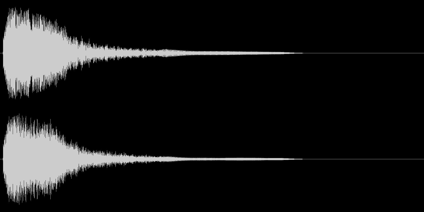 フワフワフワワン~の未再生の波形