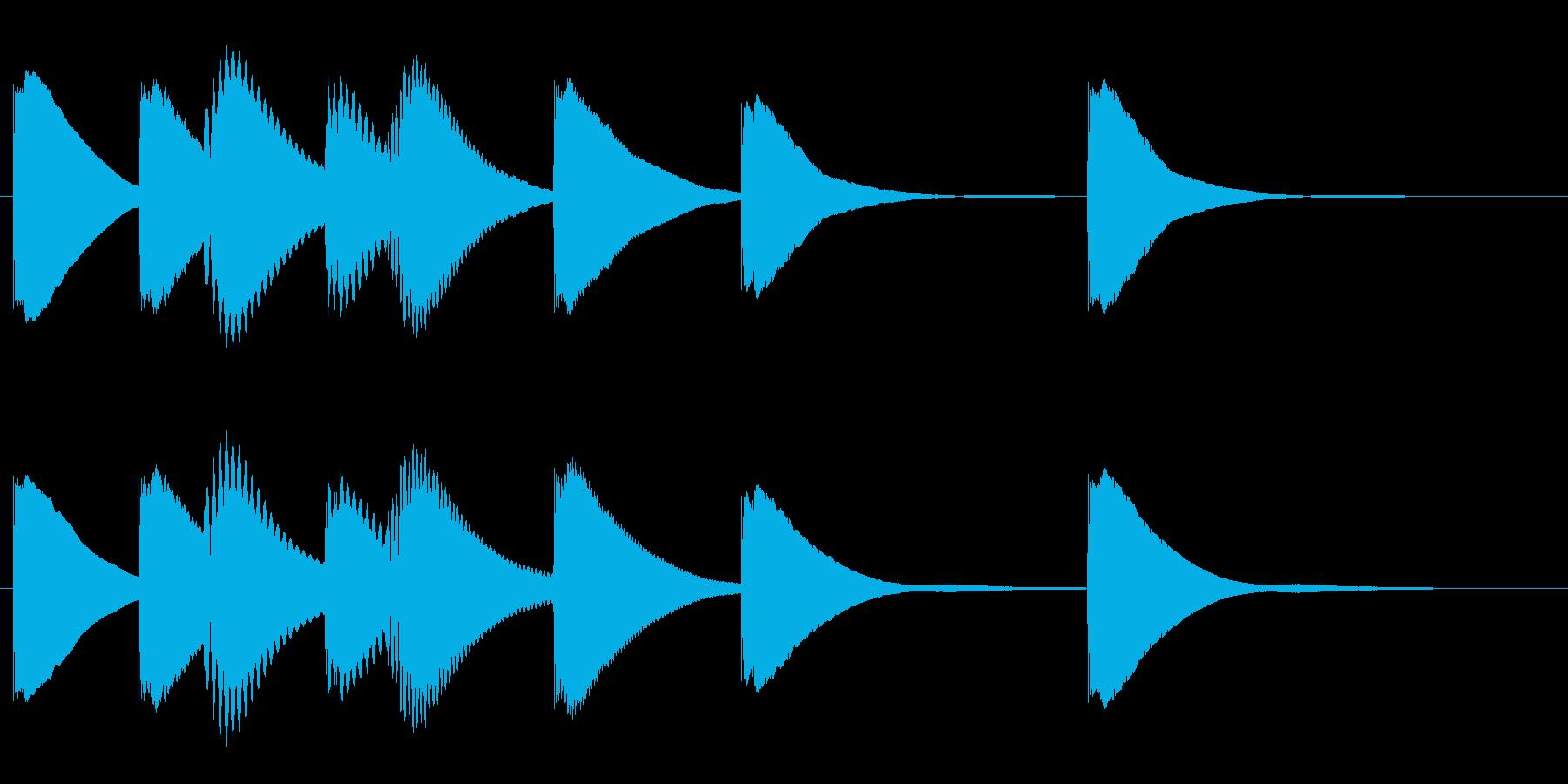 ジングル 木琴 学校 ほのぼのの再生済みの波形
