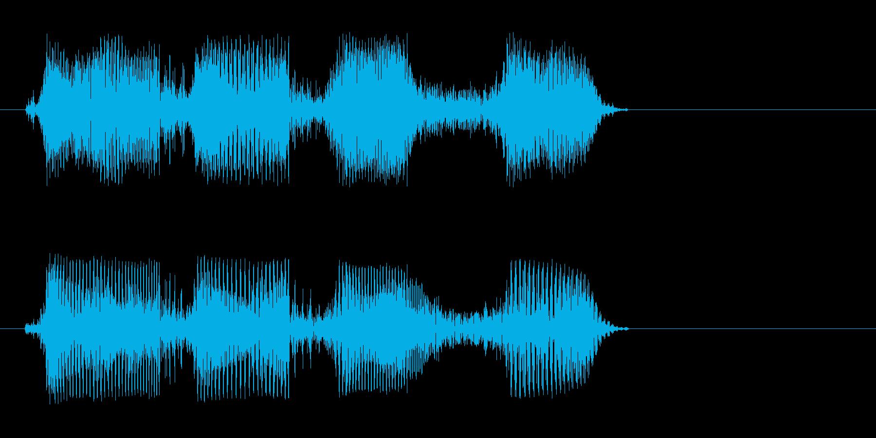 チリリョッ(短めのアクション機械音)の再生済みの波形