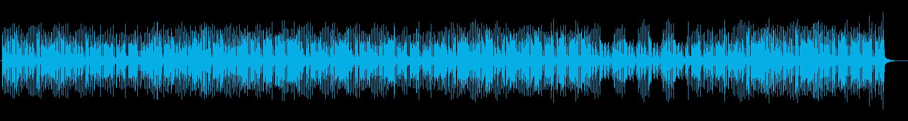 ミディアムテンポのキラキラしたポップスの再生済みの波形