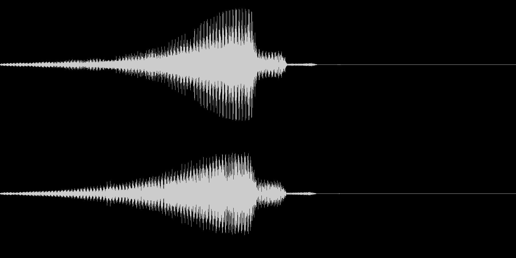ブゥ~~ンの未再生の波形