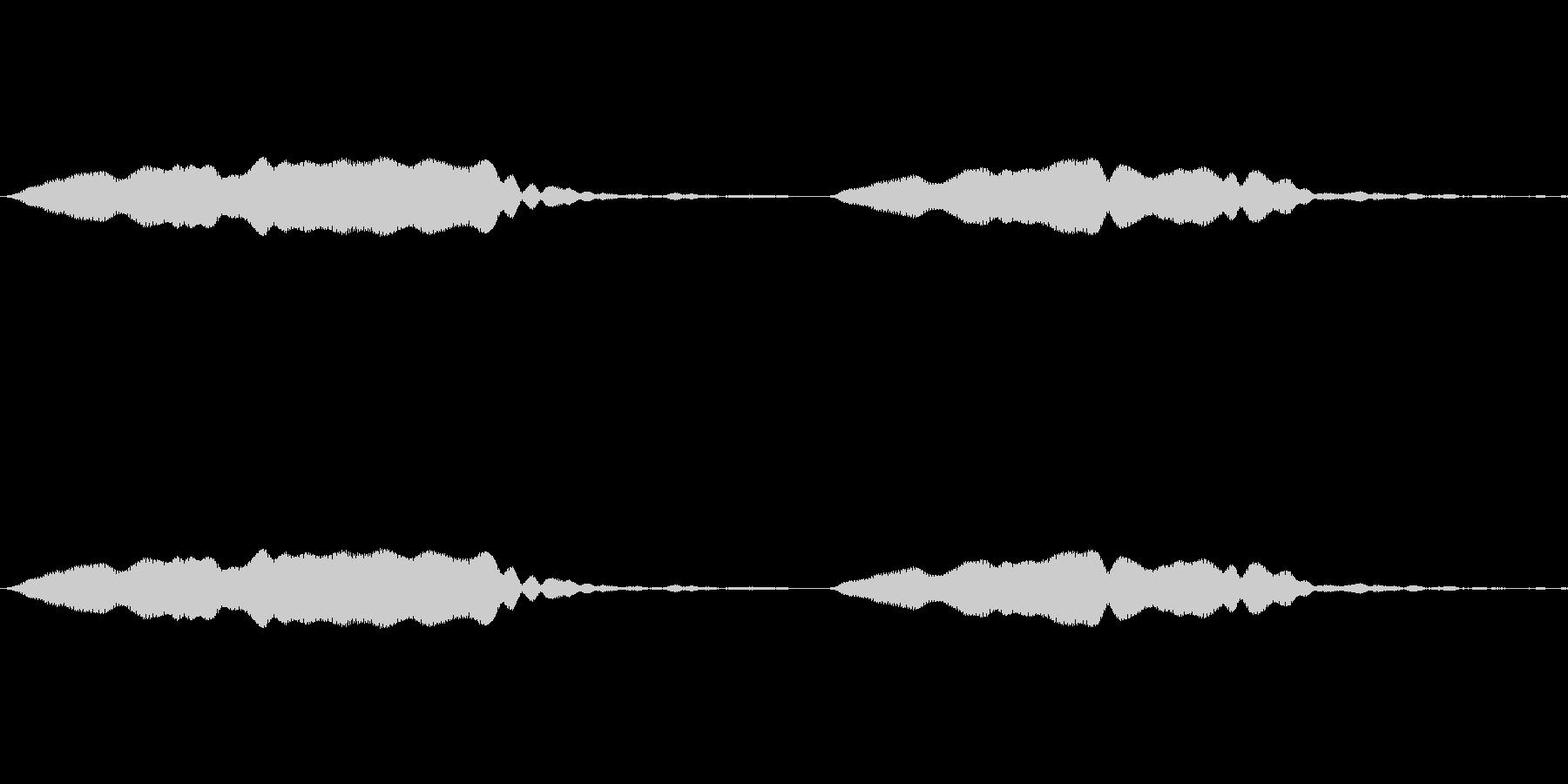 ピピッ(ホイッスルの音)の未再生の波形