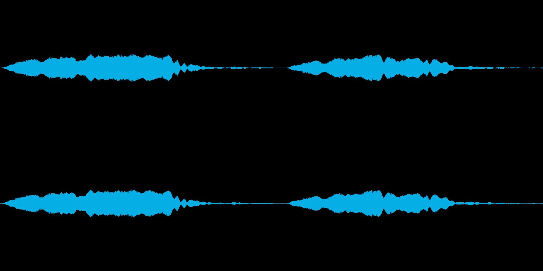 ピピッ(ホイッスルの音)の再生済みの波形