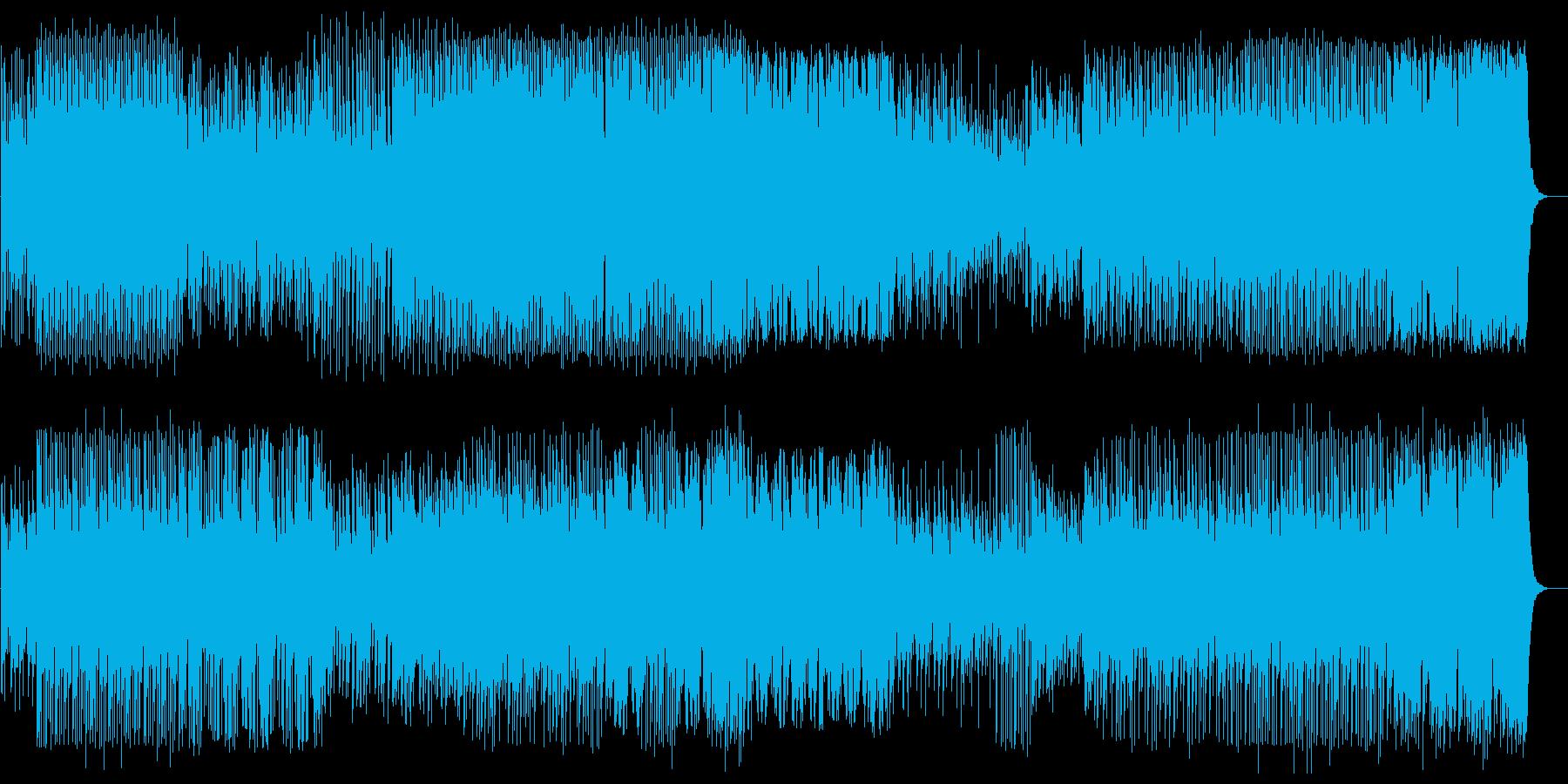 和風で躍動感ある三味線サウンドの再生済みの波形