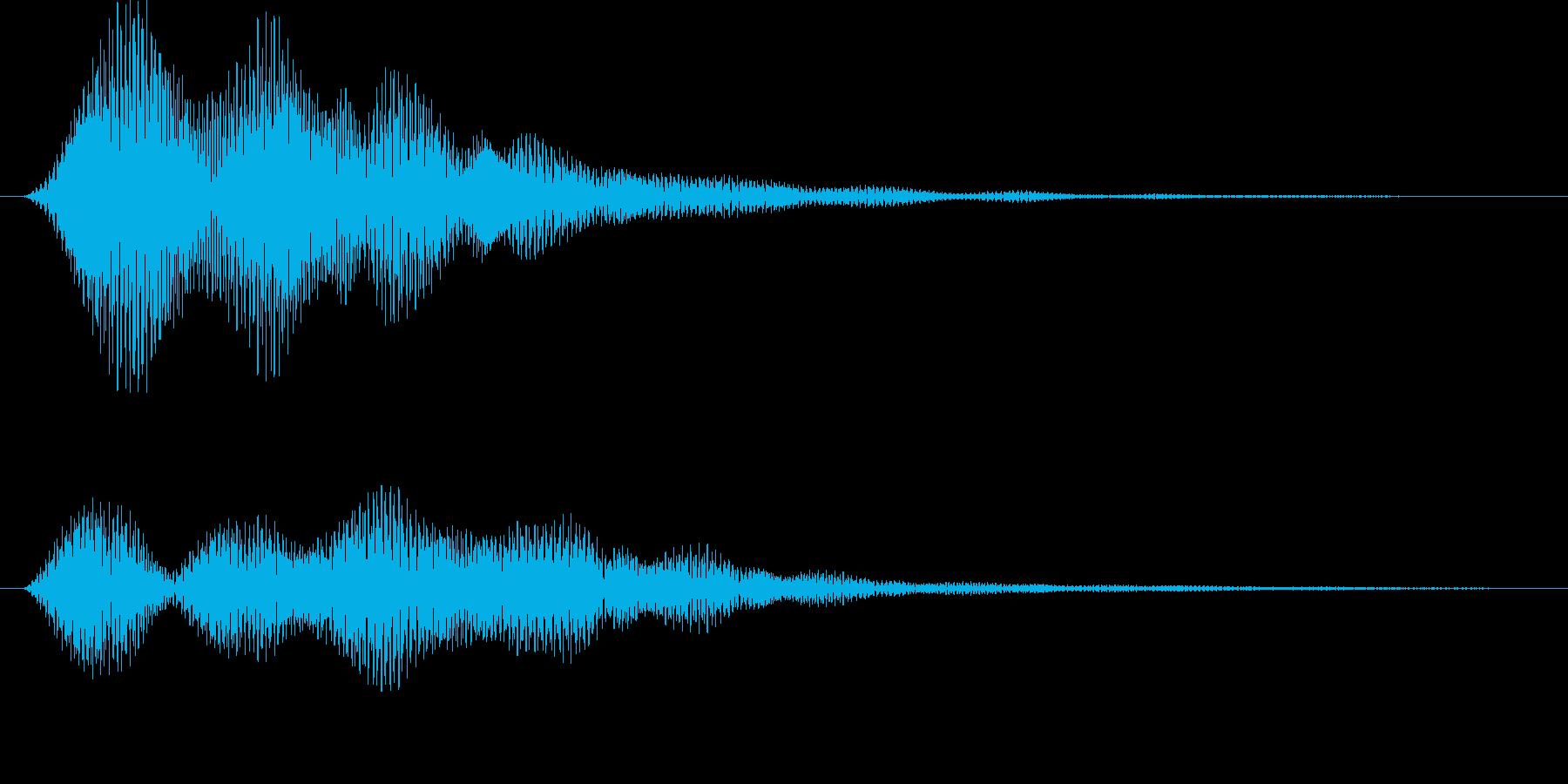 サウンドロゴ風プッシュボタンの再生済みの波形