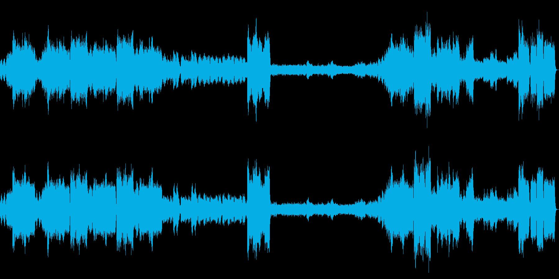 チャーチ風「結婚行進曲」の再生済みの波形